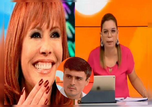 Novio de Melissa Loza hace perder los papeles a Milagros Leiva tras confundirla con Magaly Medina