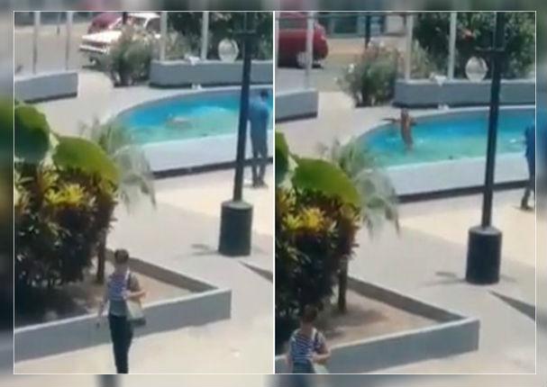 Hombre no aguantó el terrible calor y se fue a bañar a una pileta de Ate Vitarte