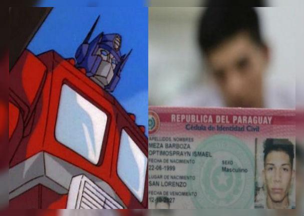 Padre fan de 'Transformers' le pone de nombre 'Optimosprayn' a su hijo