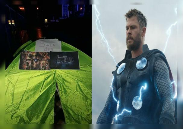 Avengers Endgame: Fanáticos enloquecen y deciden acampar afuera del cine