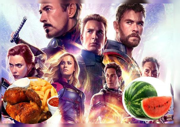 Conoce los inusuales alimentos que lograron ingresar a la función de 'Avengers Endgame'