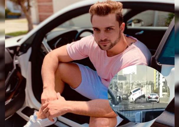 Nicola Porecella: Captan el preciso momento que ocasiona un aparatoso accidente