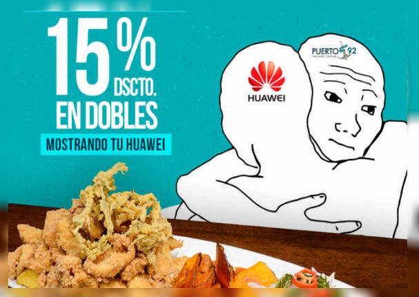 Huawei: Cevichería ofrece descuentos a usuarios que tengas estos celulares