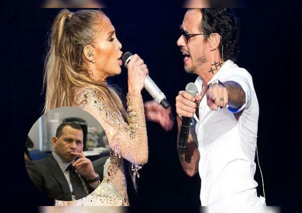 Marc Anthony y Jennifer López interpretan emotivo tema delante de Alex Rodríguez