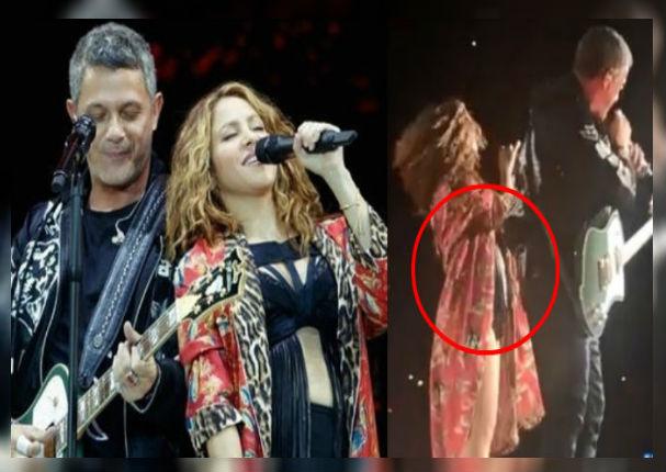 Shakira muestra avanzado estado de embarazo (VIDEO)