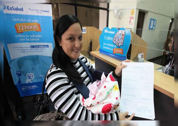 EsSalud: Ya puedes cobrar el subsidio por lactancia a través de la web