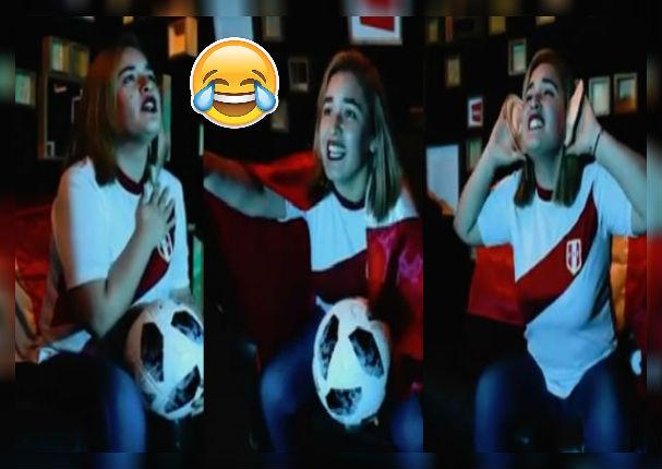 Tipos de reacciones de una mujer mientras ve a la selección peruana