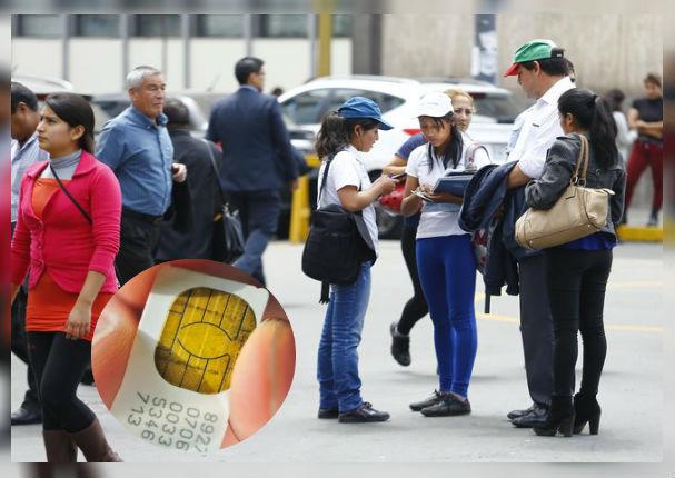 Osiptel prohibirá la venta en las calles de CHIPS para celulares