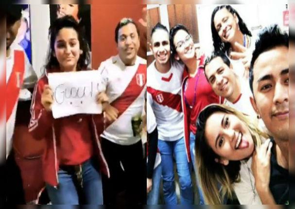 Daniela Darcourt y Amy Gutiérrez vivieron así la victoria de la selección peruana (VIDEO)