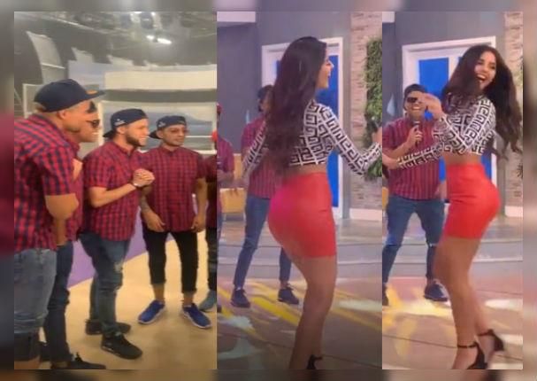 Combinación de la Habana hace bailar a Luciana Fuster en programa en vivo