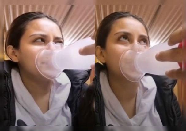 Amy Gutiérrez alarma a seguidores tras ser nebulizada de emergencia