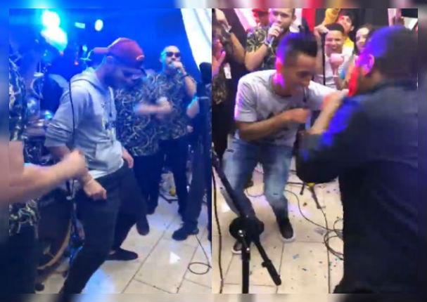 Combinación de la Habana pone a bailar a seleccionados en fiesta de Carlos Zambrano