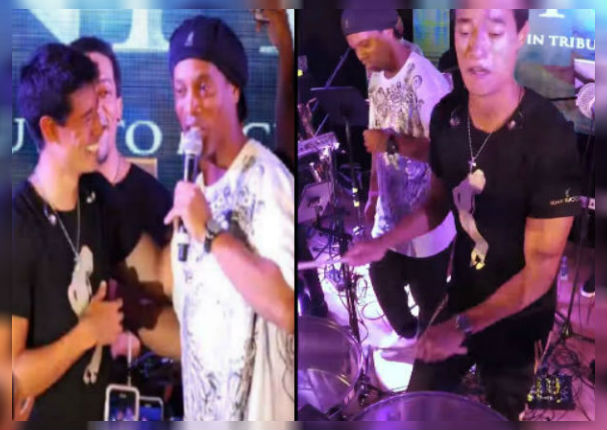 Tony Succar hace bailar a Ronaldinho Gaúcho en pleno concierto (VIDEO)