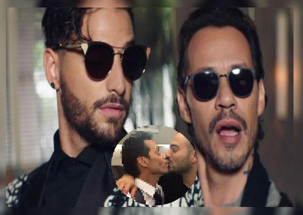 Marc Anthony y Maluma generan controversia al saludarse cariñosamente (VIDEO)
