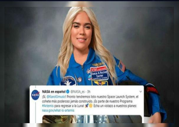 La Nasa invita a Karol G a conocer la Luna tras enviar mensaje romántico a Anuel AA