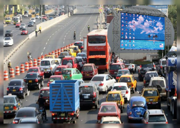 Pantallas gigantes te advertirán de los lugares con más tráfico