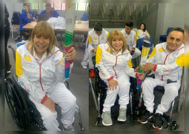 Gina Parker y su recorrido de la antorcha de los Juegos Parapanamericanos Lima 2019