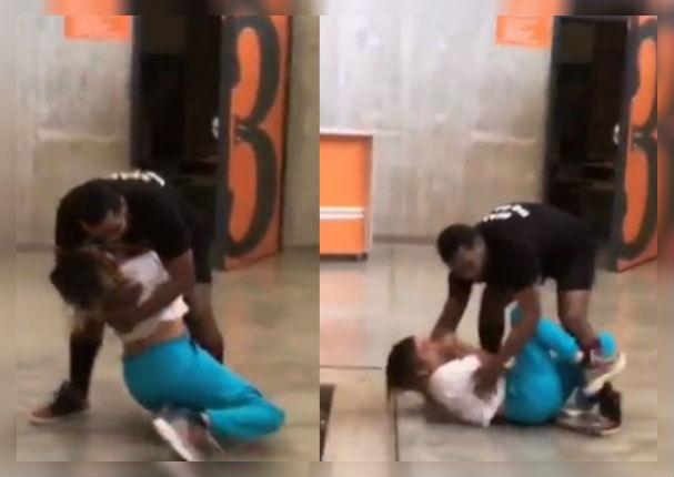 Amy Gutiérrez sufre terrible caída tras ser perseguida por bailarines (VIDEO)