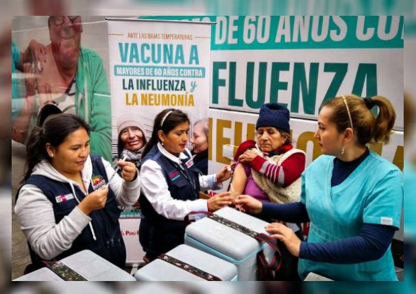 Minsa continuará campaña de vacunación contra la influenza hasta fin de año