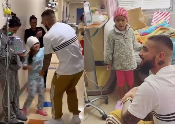 Maluma sorprende a niños en hospital de Puerto Rico (VIDEO)