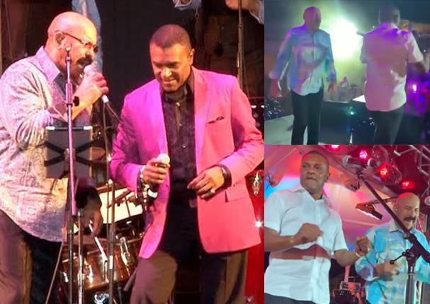 Oscar D' León y José Alberto 'El Canario' se roban el show con estos pasos de baile (VIDEO)