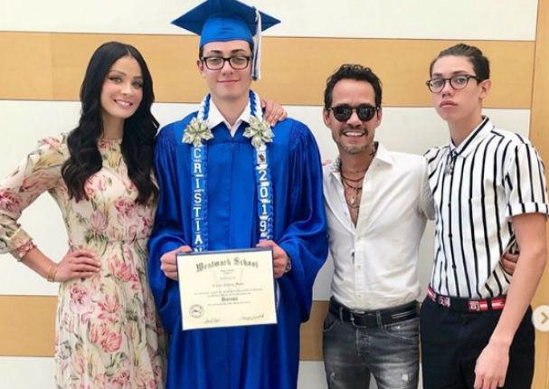 Hijos de Marc Anthony tuvieron emotivo reencuentro (VIDEO)