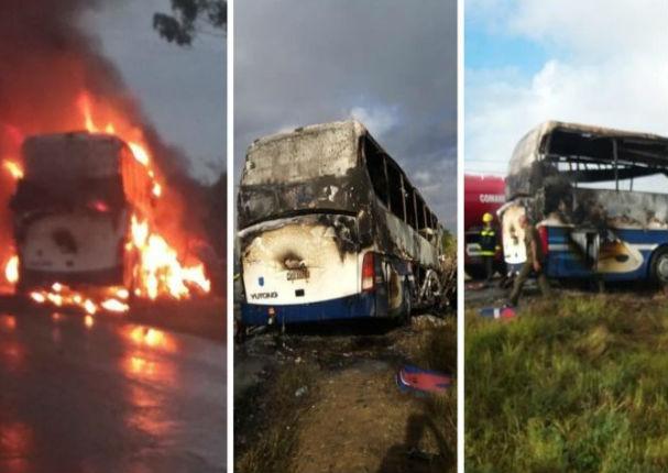 Bus que transportaba a La Charanga Habanera se accidenta y deja dos muertos