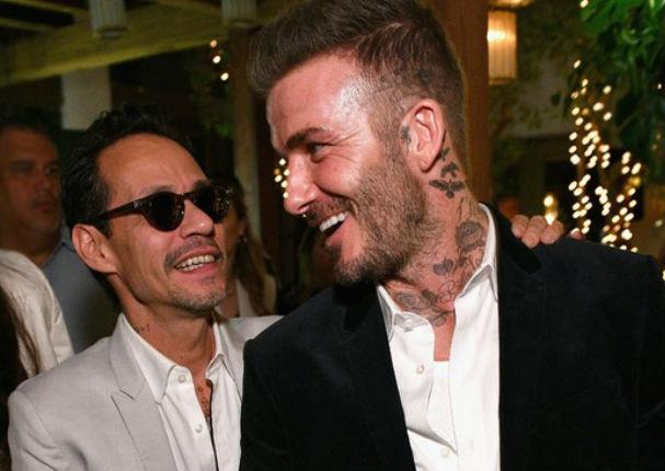 Marc Anthony hace bailar a David Beckham