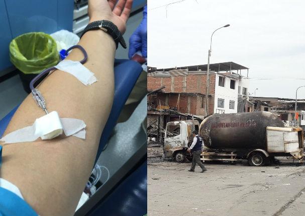 Urgen donantes para víctimas del incendio en Villa El Salvador