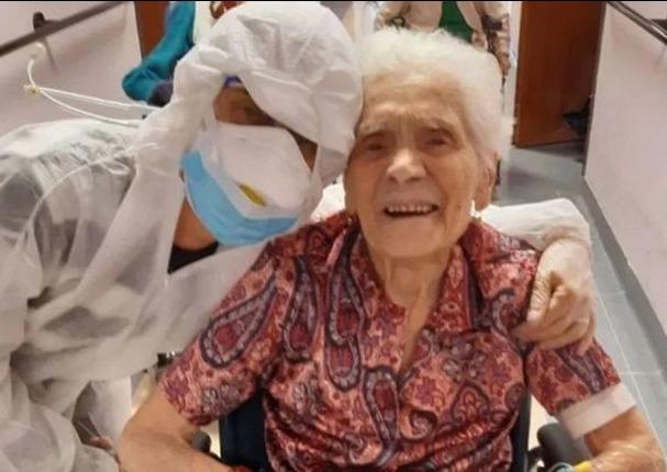 Mujer de 104 años vence al coronavirus en Italia
