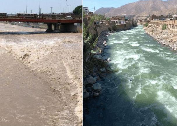 Impresionante cambio del color del agua en el río Rimac