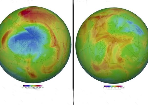 Se cerró un inesperado agujero en la capa de ozono sobre el Ártico