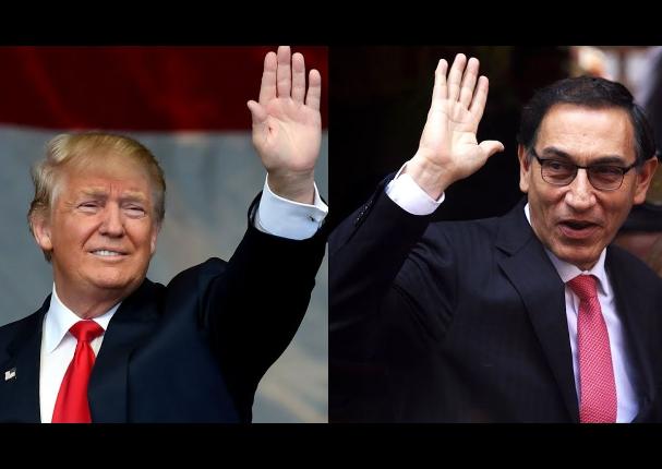 Donald Trump ofrece ayuda al presidente Martín Vizcarra para enfrentar el Covid-19