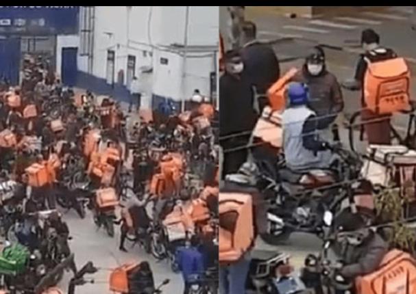 Reportan aglomeración de motorizados en distrito limeño
