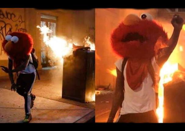 Elmo se sumó a las violentas protestas en Estados Unidos y se vuelve viral