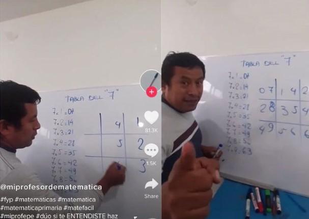 Profesor peruano de matemáticas se vuelve viral por novedoso método de enseñanza