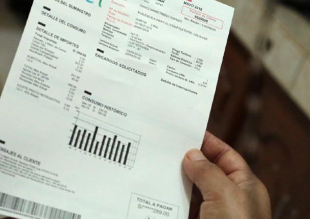 Gobierno subsidiará parte de los recibos de luz que se consumió durante la cuarentena