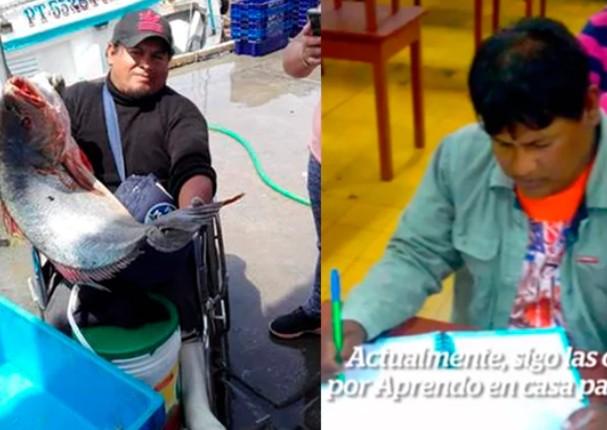 Pescador de 40 años aprovecha 'Aprendo en casa' para culminar la primaria