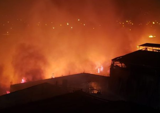 Inéditos videos del incendio que destruyó viviendas del Centro de Lima