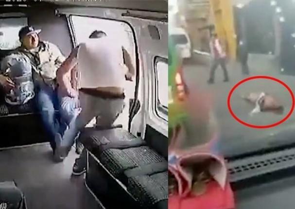 En México, pasajeros dan una golpiza a ladrón que intentó robarles