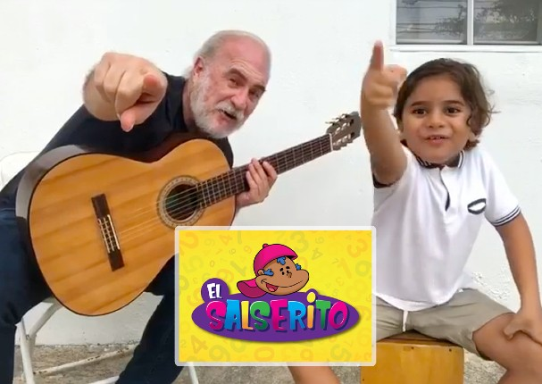 Jerry Rivas del Gran Combo presenta proyecto con su nieto