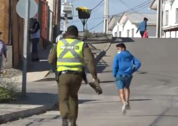 Chileno escapa de policía al no querer ser miembro de mesa