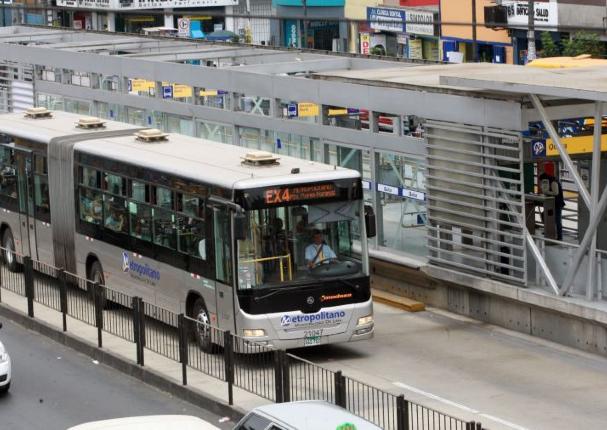 Metropolitano suspende servicio mañana martes 1 de diciembre