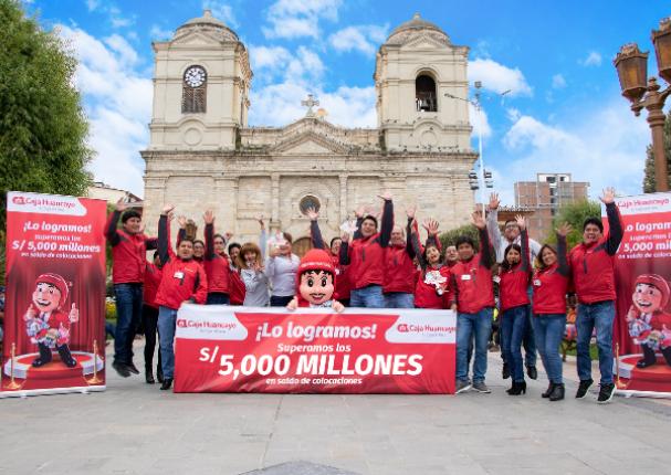 Caja Huancayo supera los 5 mil millones de soles en colocaciones de créditos