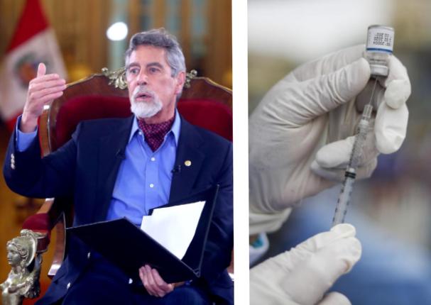 Francisco Sagasti anuncia firma de acuerdo con sinopharm y AstraZeneca