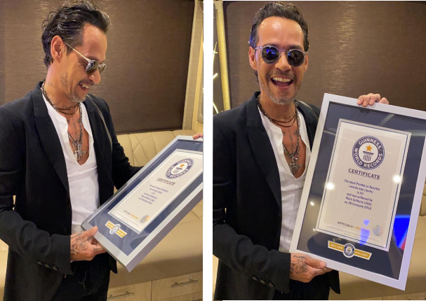 Marc Anthony recibe Récord Guinness | VIDEO