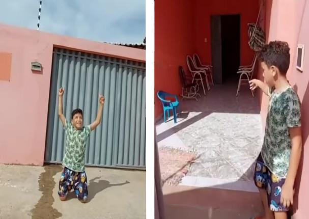 Brasil: Niño de 11 años logró comprar una casa   VIDEO