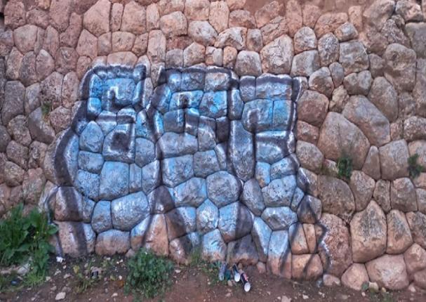 Cusco: personas no identificadas pintan y malogran muro Inca