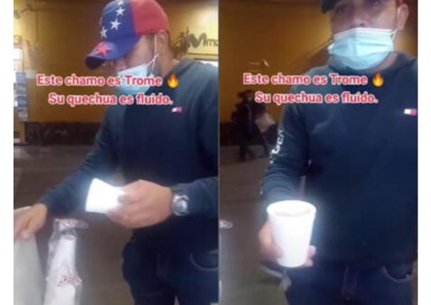 Vendedor extranjero sorprende hablando quechua fluido a su cliente | VIDEO