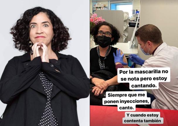 Wendy Ramos se vacunó contra la Covid-19 en Miami